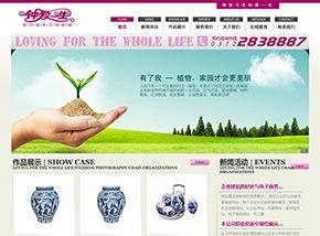 风格不错的婚纱摄影类网站模板