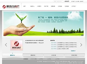 清爽大气的品牌形象展示网站